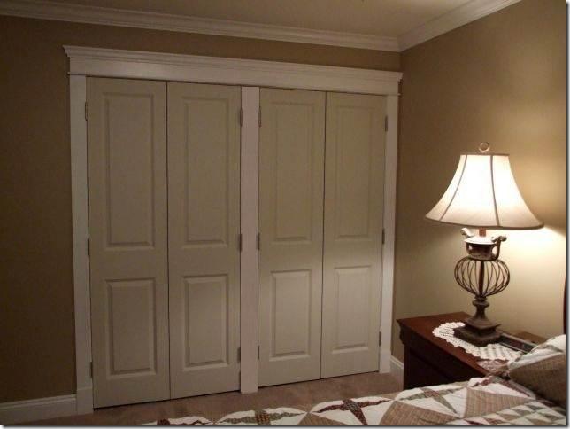 Photo of closet door trim.
