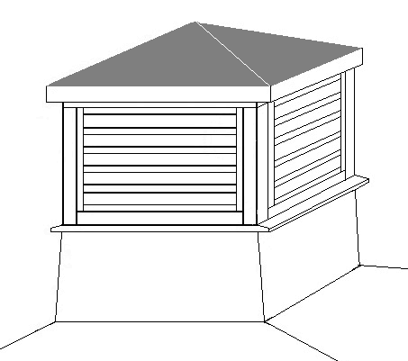 Drawing of a cupola for the top of a gazebo.