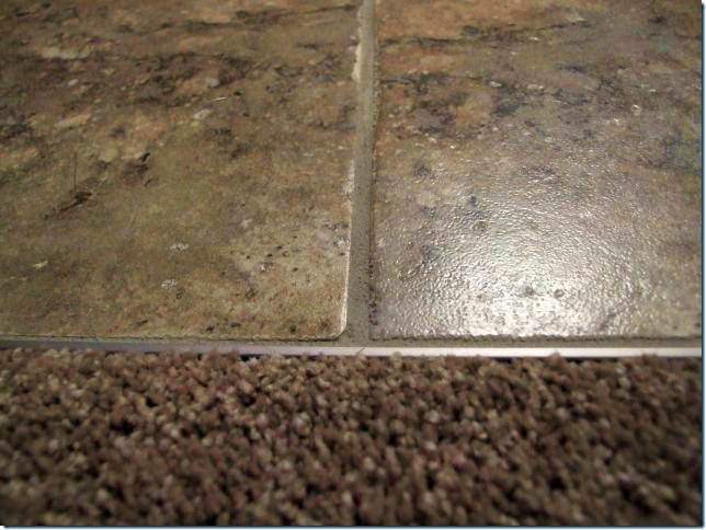 How To Carpet Tile Transition On A Concrete Floor