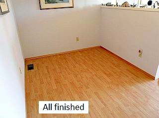 Photo of finished hardwood floor.