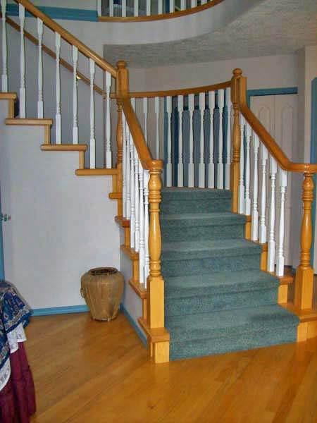 Photo of stairs built by Dave.