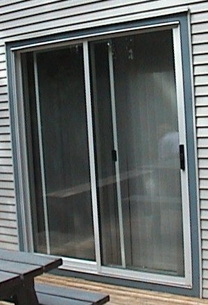 Photo of exterior patio door trim.