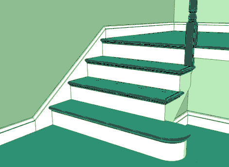 Drawing of a stair skirt.