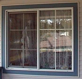 Photo of an outside window trim.