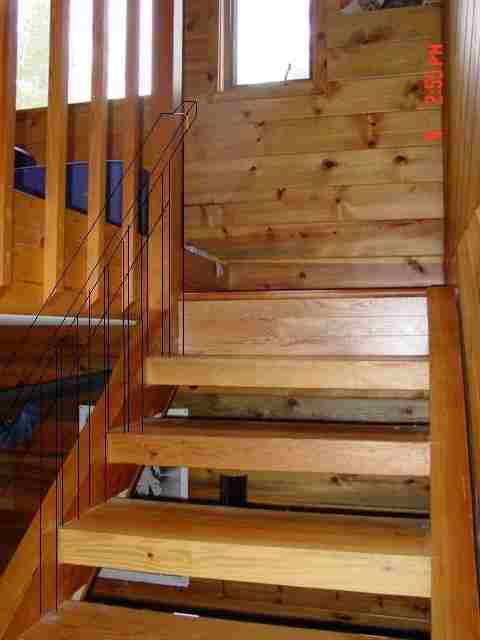 Photo of the top of stairs built by a member.